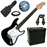 Encore KC3T-MO1 Electric Guitar Outfit Starter Package Black