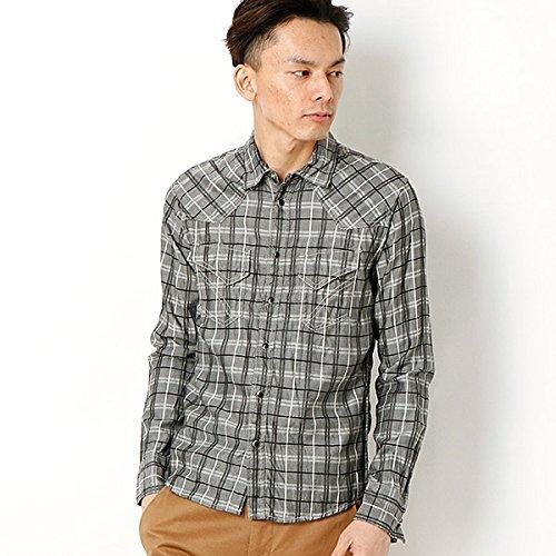 MKオム(MK homme) テンセルコットンチェックシャツ【94ブラック/48/L】