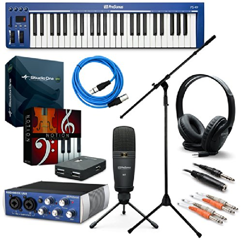 Presonus Music Creation Suite Recording Kit Bonus Pak W/ Mic Stand