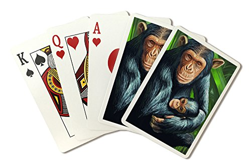 Chimpanzee (Playing Card Deck - 52 Card Poker Size with Jokers)