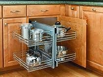 Big Sale Best Cheap Deals Rev-A-Shelf 5PSP-15-CR Chrome Blind Corner Cabinet Organizer