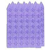 UNIQOOO 12Pcs 3 12 Violet Purple Carved Wax Sealing Sticks For Retro Vintage Wax Seal Stamp