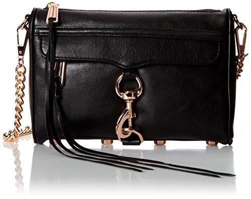 Rebecca Minkoff Mini MAC Convertible Cross-Body Bag,Black,One Size