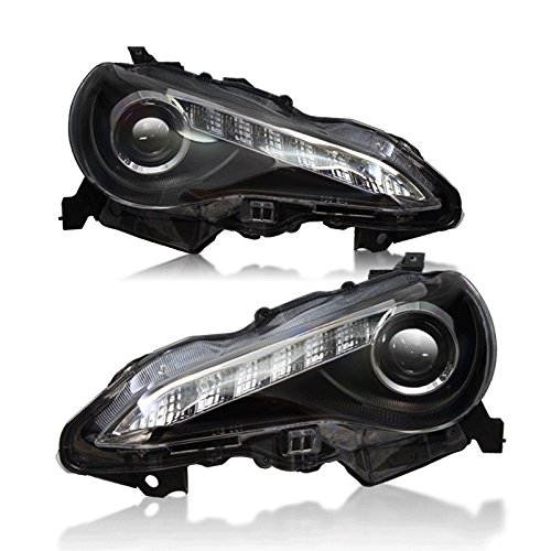 Starr Lite 13-14 Scion Fr-S Drl Projector Head Lights - (Black / Clear)