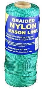T.W . Evans Cordage 12-502 Number-1 Braided Nylon Mason Line, 500-Feet, Green