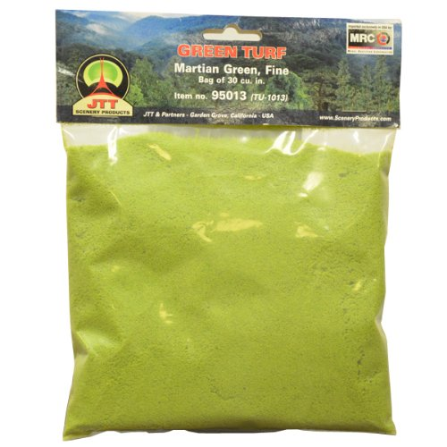 JTT Scenery Products Green Turf, Martian Green, Fine/30 Cubic Inch