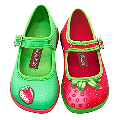 hot chocolate design mini chocolaticas strawberry girls mary jane flat shoes. Black Bedroom Furniture Sets. Home Design Ideas