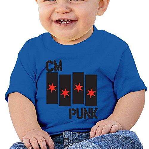 Babys Unisex Flag Star Logo Wrestling T Shirts RoyalBlue Size 24 Months (Aj Lee Sex compare prices)