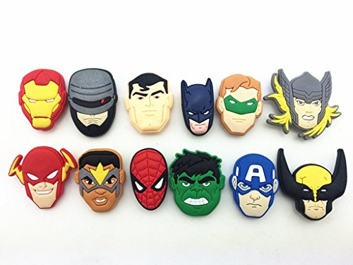 11pc-Super-Hero-Avengers-Shoe-Charms-for-Croc-Shoes-Wristband-Bracelet