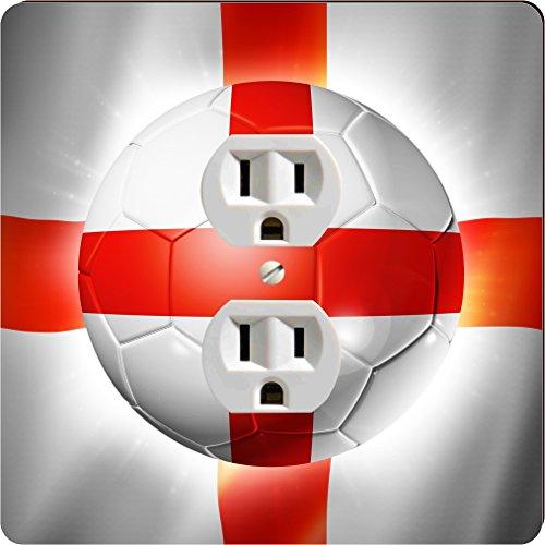 Rikki Knighttm Brazil World Cup 2014 England Team Football Soccer Flag Single Outlet Plate