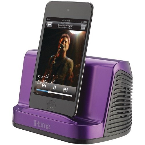 Ihome Ihm16U Portable Stereo Speaker System For Ipad, Ipod And Mp3 Player, 3.5 Mm Line-In (Purple)