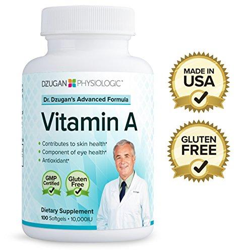 Dr-Dzugans-ADVANCED-Vitamin-A-Formula-GMP-Certified-Gluten-Free-10000IU-100-Softgels-Skin-Health-Eye-Health-Antioxidant