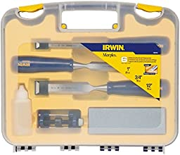 Irwin Tools 1788115  Woodworking Chisel Set with Sharpening Kit, 6-Piece