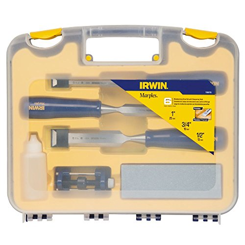 IRWIN Tools 6-Piece Woodworking Chisel Set with Sharpening Kit (1788115) (Wood Tools Kit compare prices)