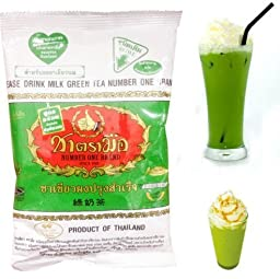 THAI GREEN TEA PLEASE DRINK NUMBER ONE BRAND ORIGINAL SINCE 1945 ICE TEA MILK 200 G. by Unionmall