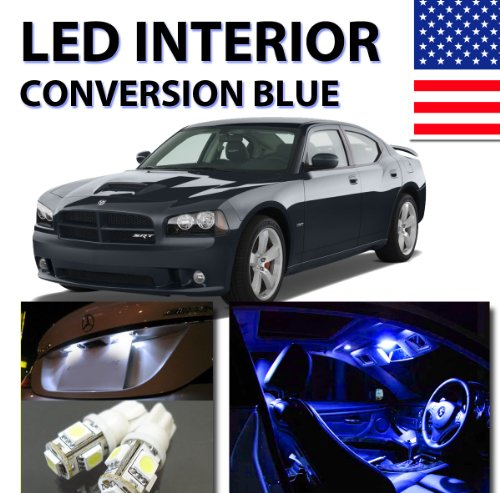 Agt Bright Blue Led Lights Interior Package 5Pc Kit For Dodge Charger 2006-2010