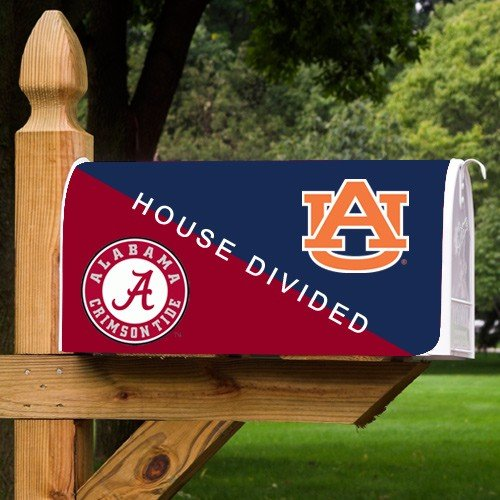 NCAA Alabama Crimson Tide Vs. Auburn Tigers House Divided Mailbox Cover at Amazon.com