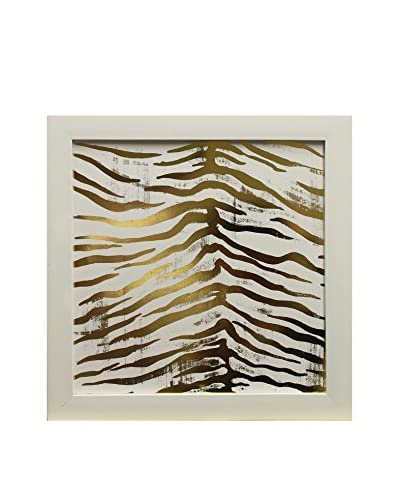 Star Creations Gold Foil Animal Print Collection Tiger Print, 14 x 14