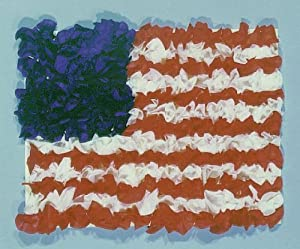 Hygloss American Flag Tissue Kit - Supplies for 10 Flags