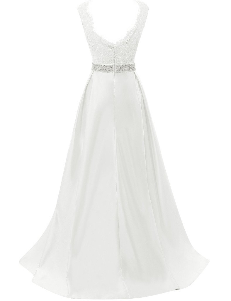 JAEDEN Vintage Wedding Dresses for Bride Simple Bridal Gown Cap Sleeve 1