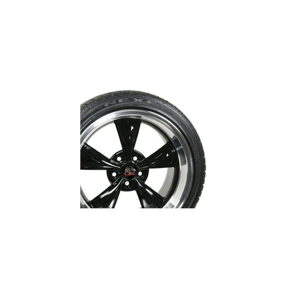17 Fits Mustang (R) Bullitt   Bullet Style Wheels tires   Black 17x9 / 17x10.5