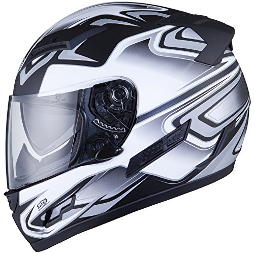 THH TS-80 #4 Full Face Motorcycle Helmet L Black/Grey