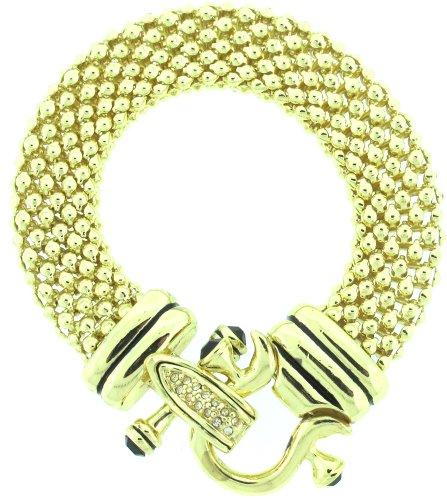 Designer Inspired Bit and Bridle Bracelet in Gold