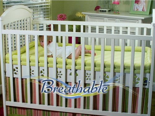 Secure Beginnings Heaven Sent Breathable Crib Mattress Base, Flower-Natural, Standard