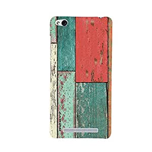 RICKYY _Mi3s_1287 Printed Matte designer Red amp Green Wood case for Redmi 3S