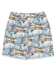 Contrast Drawstring Sublimation Assorted Print Swim Shorts