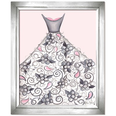 Doodlefish DB1710prp-White Petal Princess Artwork, White Frame