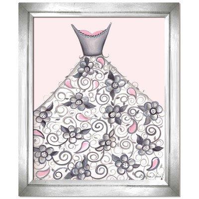 Doodlefish DB1710pnk-Silver Petal Princess Artwork, Silver Frame