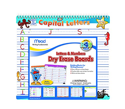 Mead Letters and Numbers Dry Erase Boards, 12-1/2 x 11-1/4-Inches (54216) (Numbers Dry Erase compare prices)