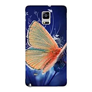 Yellowish Butterfly Back Case Cover for Galaxy Note 4