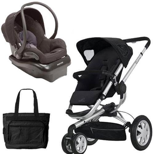 Quinny Buzz3Trvstm Buzz 3 Travel System In Black With Diaper Bag front-821814