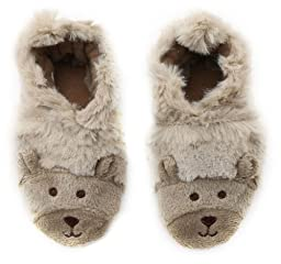 Robeez Fuzzy Bear Slipper Crib Shoe (Infant), Taupe, 18-24 Months M US Infant