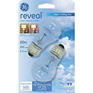 GE Lighting 48698 Reveal Ceiling Fan Light Bulb-60W CLR CEILING FAN BULB