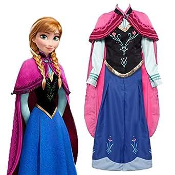 Costume deguisement reine des neiges princesse combinaison - Deguisement princesse des neiges ...