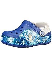 crocs Girls' CrocsLights Frozen Clog
