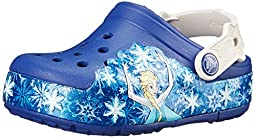 crocs Kids\' CrocsLights Frozen Light-Up Clog (Toddler/Little Kid), Cerulean Blue/Oyster, 13 M US Little Kid