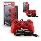 Ttx Tech 2 Packs Ps3 Controller Wired Usb Controller Pc Compatible Red