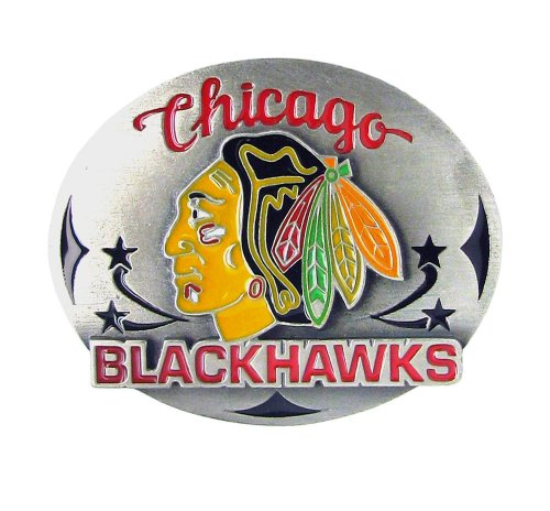 Siskiyou Chicago Blackhawks Pewter Belt Buckle (Nhl Belt Buckle compare prices)