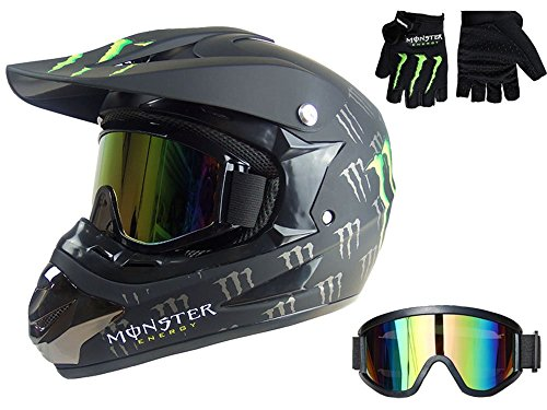 Myheartgoon-Motocross-Helmet-Dirtbike-Racing-Helmet-New-Bright-Black