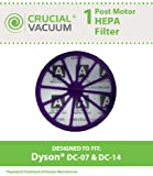 Dyson DC07, DC14 Purple Post-Motor HEPA Filter; Replaces Dyson DC-07, DC-14 Vacuum Part # 901420-02; Designed & Engineered By Crucial Vacuum