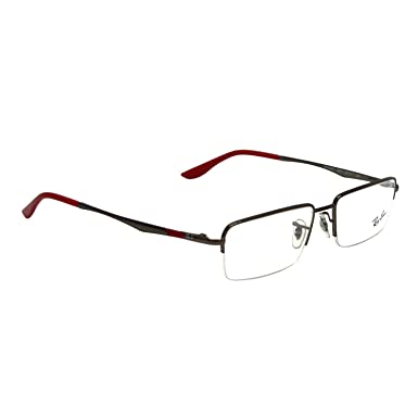 ray ban rectangular eye frames 0rx6267i250254 transparent