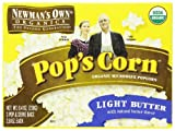 Newman's Own Organics Pop's Corn Organic Microwave Popcorn, Light Butter, 3-Count Boxes (Pack of 12)