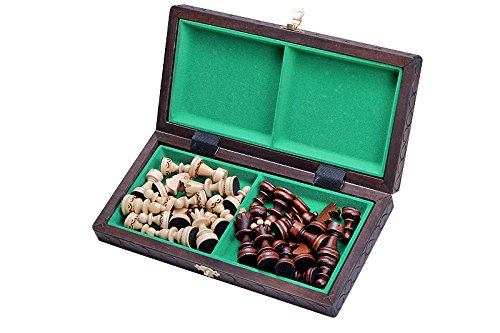 The Delbog Wood Chess Set with Chess Board and Storage 1