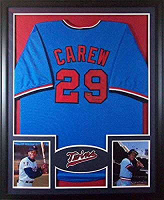 Rod Carew Framed Jersey Signed PSA/DNA Authenticated Autographed Minnesota Twins