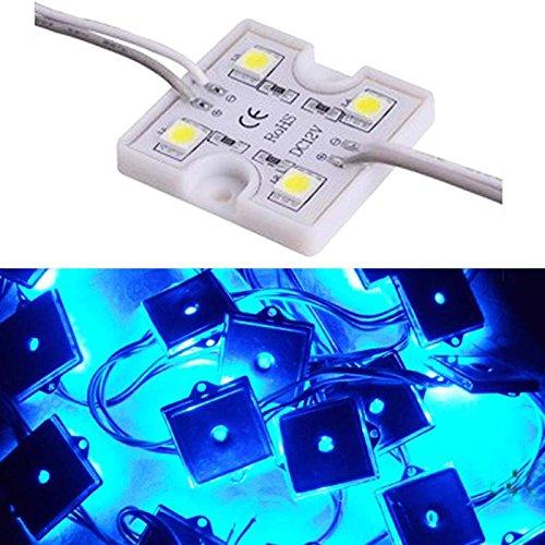 Inextstation(Tm) 20Pcs Dc 12V Waterproof 5050 Smd 4 Led Module Decorative Lighting Square Shape Light Lamp - Blue