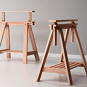 Amazon Com Beech Wood Desk Table Leg Trestle With Shelf